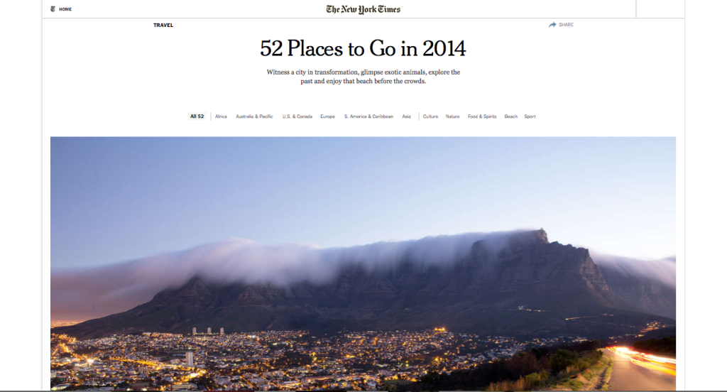 NYT Where to Go Cape Town