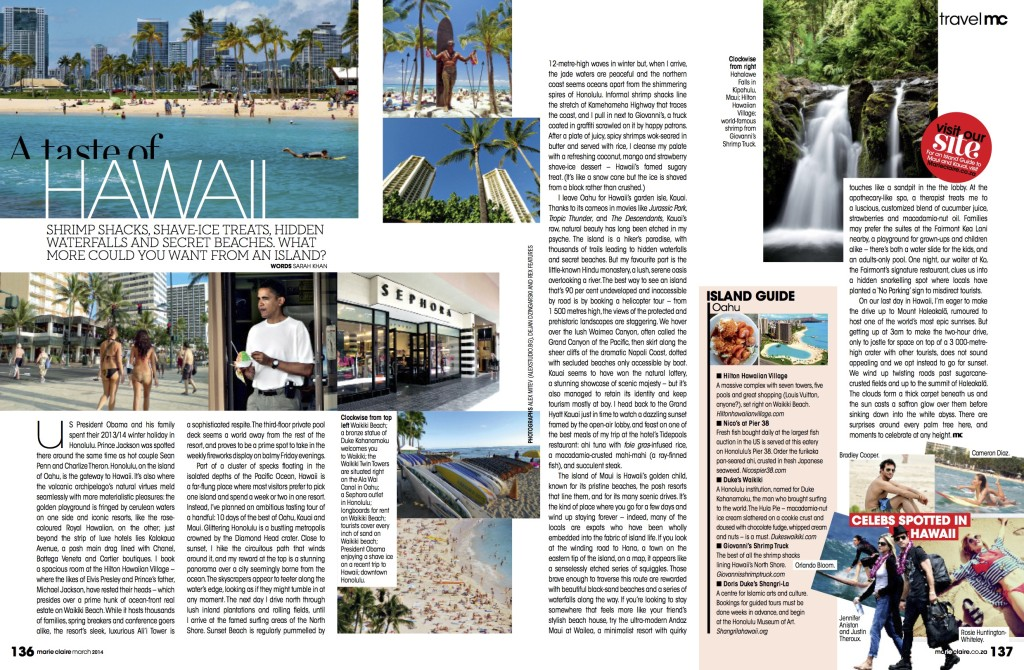Marie Claire South Africa March 2014 Hawaii