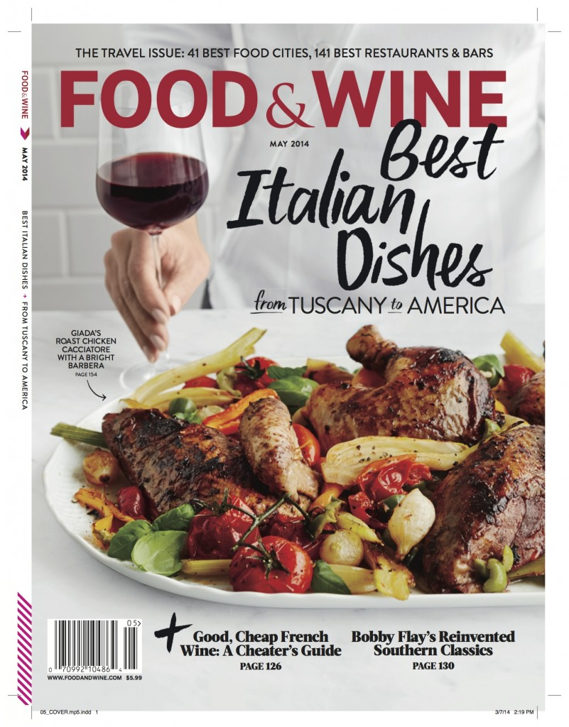 Food & Wine May 2014 Cover