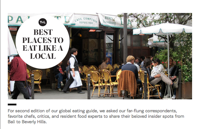 T+L Best Places to Eat Like a Local