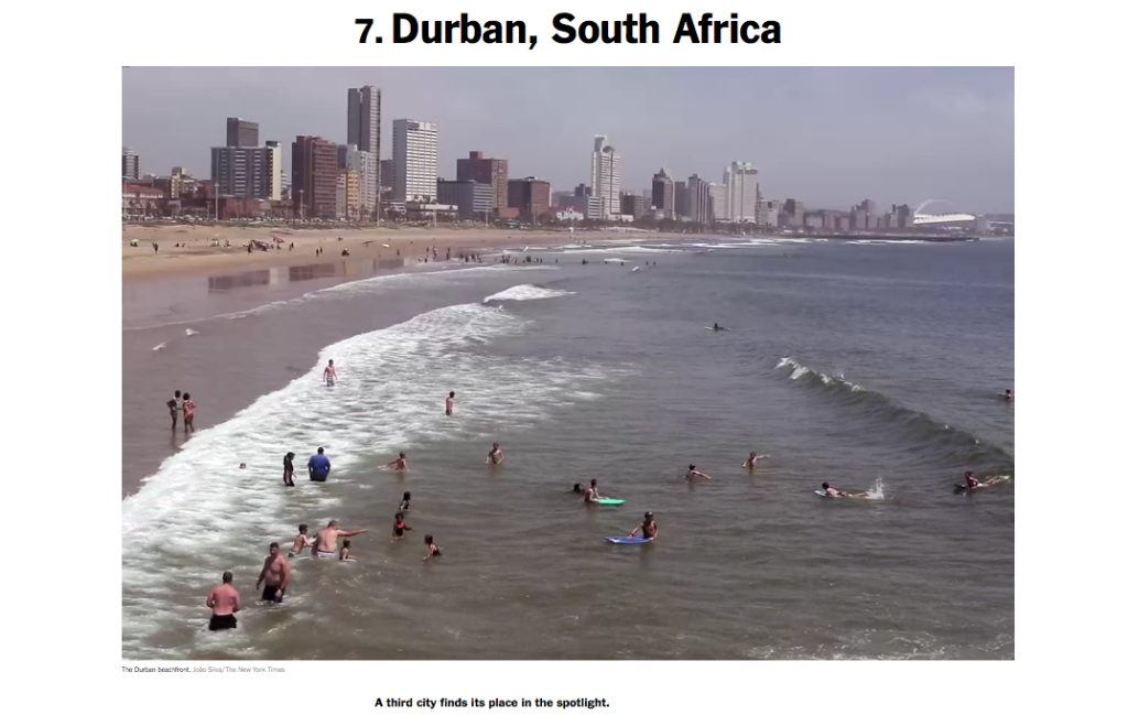 NYT 52 Places to Go Durban