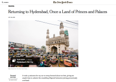 New York Times: Returning to Hyderabad, Once a Land of Princes and Palaces