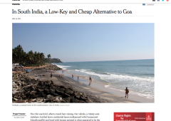 New York Times: Varkala, a Low-Key and Cheap Alternative to Goa