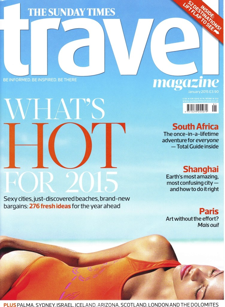 Sunday Times Travel Jan 2015 Cover