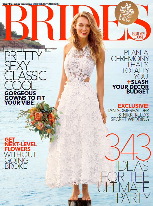 Brides October 2015 cover