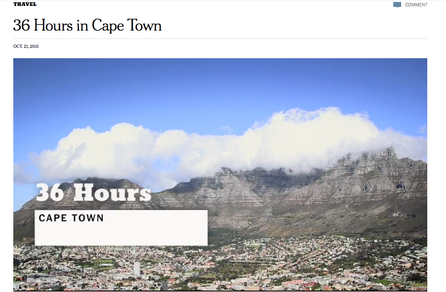 NYT 36 Hours Cape Town 2