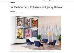 New York Times: In Melbourne, a Colorful and Quirky Retreat