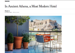 New York Times: In Ancient Athens, a Most Modern Hotel