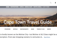 Travel + Leisure: Cape Town Guide