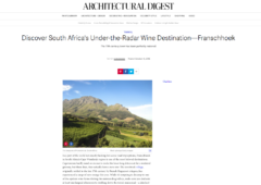 Architectural Digest: Discover South Africa's Under-the-Radar Wine Destination: Franschhoek